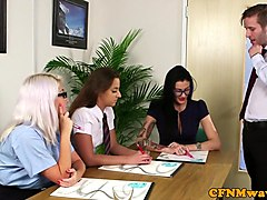 Office, Babe, Cfnm, Hungarioan office, Xhamster