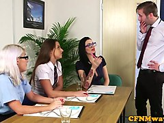 Office, Babe, Cfnm, Office cfnm, Xhamster
